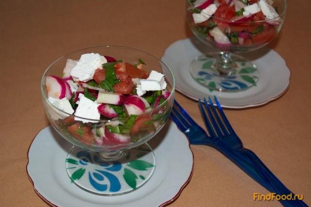 Рецепт Овощной салат с помидорами и фетой рецепт с фото