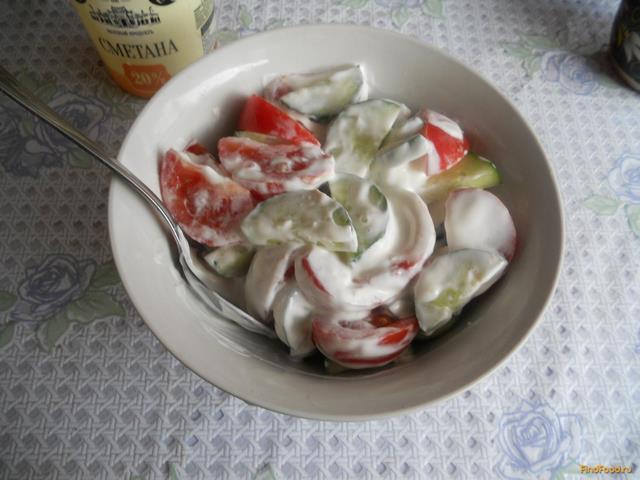 Рецепт Салат овощной к шашлыку рецепт с фото
