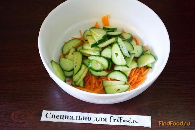 рецепт салата с фунчозой огурцом и морковью