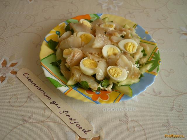 Салат с палтусом рецепт с фото 6-го шага