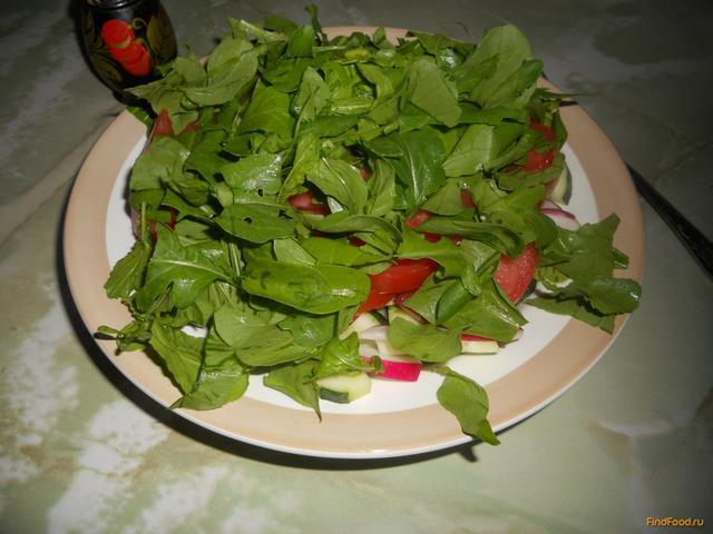 Рецепт Салат овощной дачный рецепт с фото