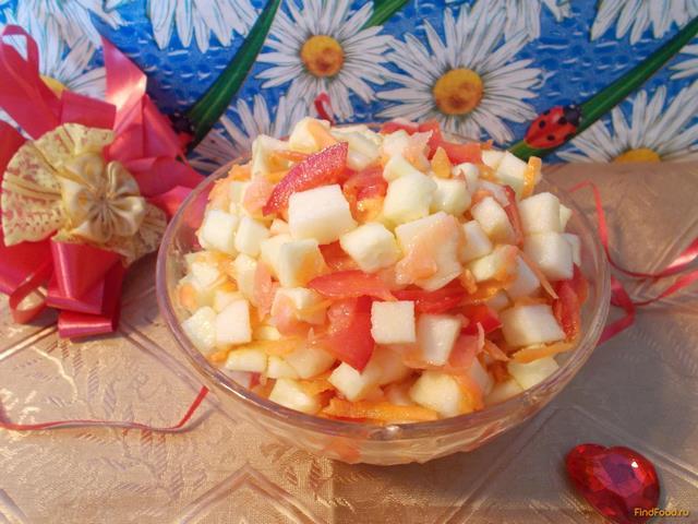 Рецепт Салат с кабачком и яблоком рецепт с фото