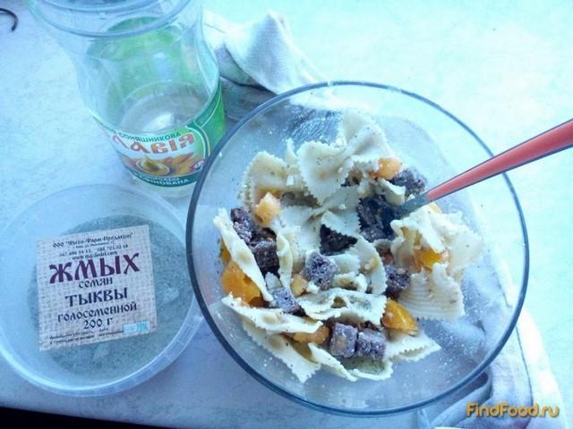 Рецепт Салат с желтыми помидорами и макаронами рецепт с фото