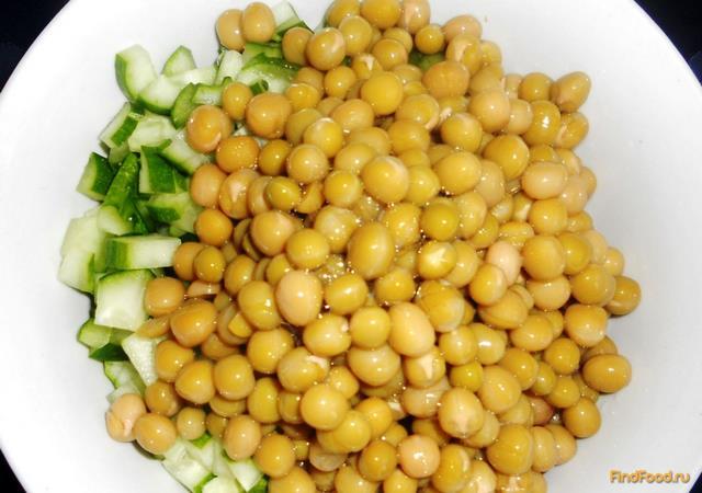 рецепт салата с горошком и крабовыми палочками и