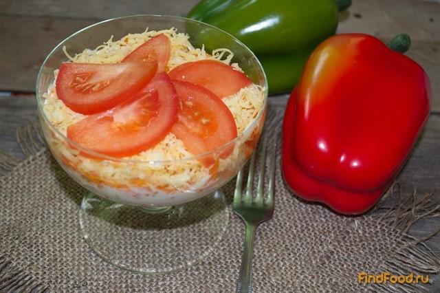 салат нарцисс рецепт с фото с крабовыми