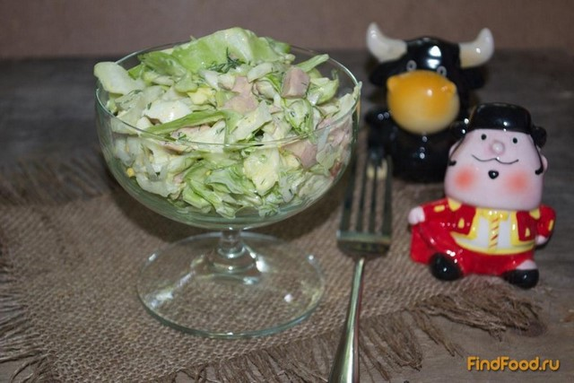 Рецепт Салат дачный с колбасой рецепт с фото