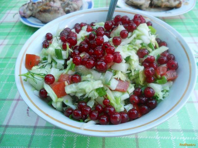 Рецепт Овощной салат с красной смородиной рецепт с фото