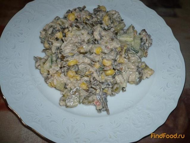 Рецепт Салат с морской капустой и кукурузой рецепт с фото