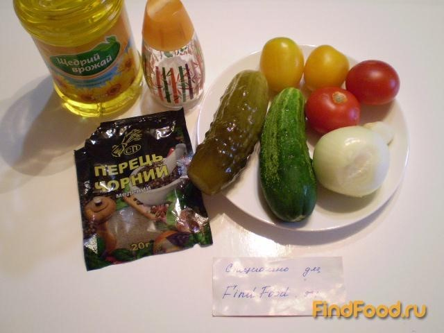 рецепт летнего салата с огурцом