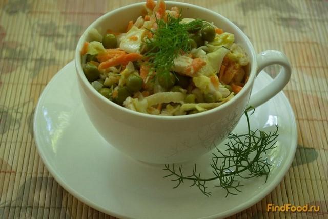 Рецепт Хрустящий салат с курицей и овощами рецепт с фото