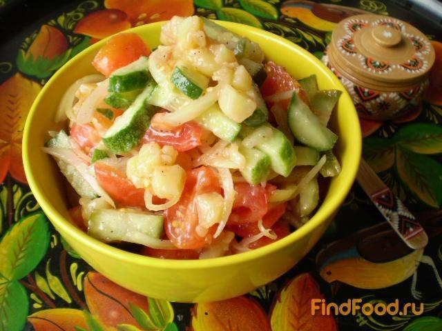 Рецепт Овощной салат с теплым картофелем рецепт с фото