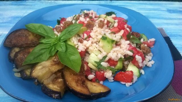 Рецепт Салат с булгуром и баклажанами рецепт с фото