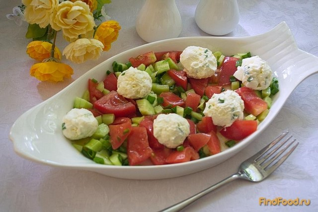 Рецепт Салат овощной с шариками из феты рецепт с фото