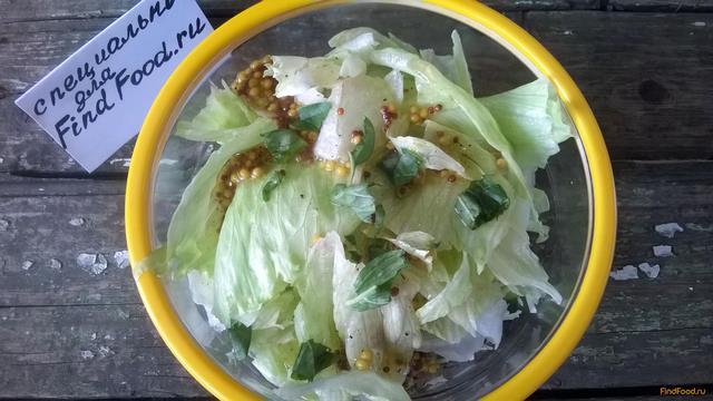 салат айсберг с грибами рецепт