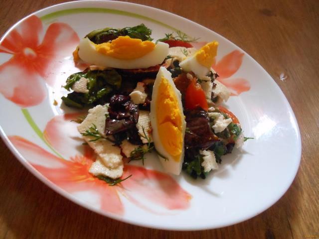 Рецепт Салат Южный с инжиром и брынзой рецепт с фото