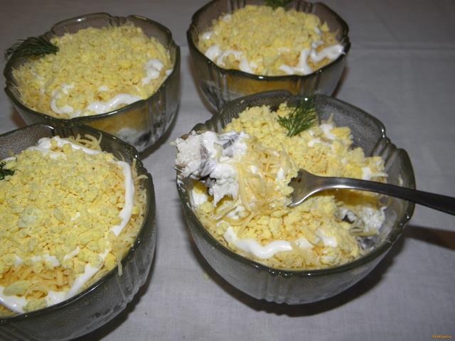 Рецепт Салат Нежный с куриным мясом рецепт с фото