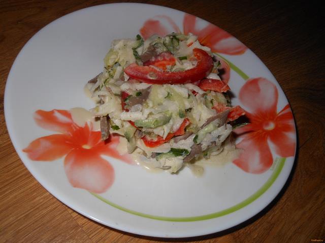 Рецепт салат Сердечный с кольраби рецепт с фото