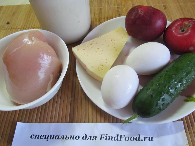 Салат воздушный рецепт с фото 1-го шага