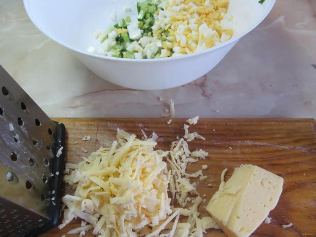 Салат воздушный рецепт с фото 5-го шага