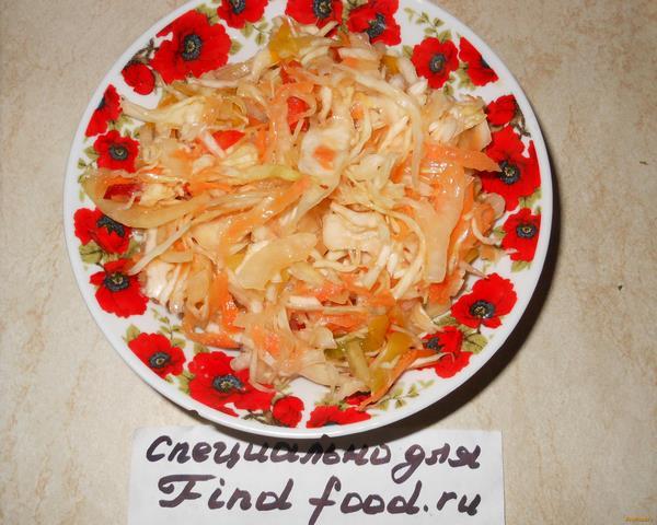 Рецепт капуста квашенная сладкая с уксусом рецепт с фото