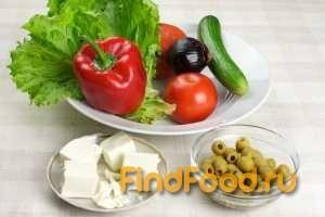 Салат греческий рецепт с фото 1-го шага