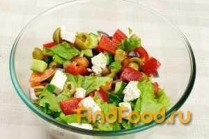 Салат греческий рецепт с фото 8-го шага