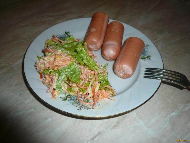 Рецепт Пикантный салатик за пять минут рецепт с фото