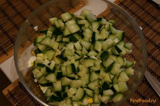 рецепт салата из кукурузы и солеными огурцами