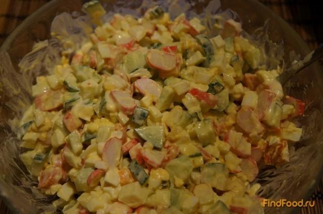Рецепт Салат с огурцом и крабовыми палочками рецепт с фото