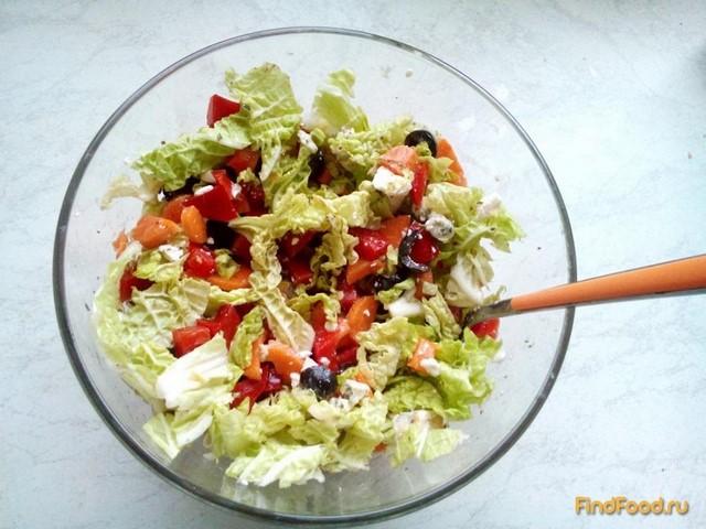 Рецепт Овощной салат с пекинской капустой рецепт с фото