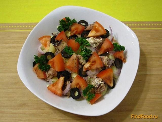 Рецепт Салат из макарон с сардинами рецепт с фото