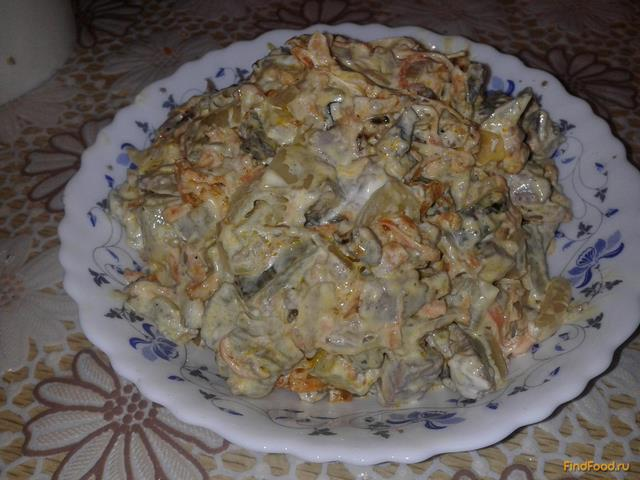 Рецепт Салат из печени с жареными овощами рецепт с фото