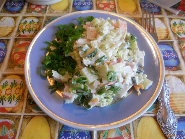Салат с крабовыми палочками рецепт с морковью