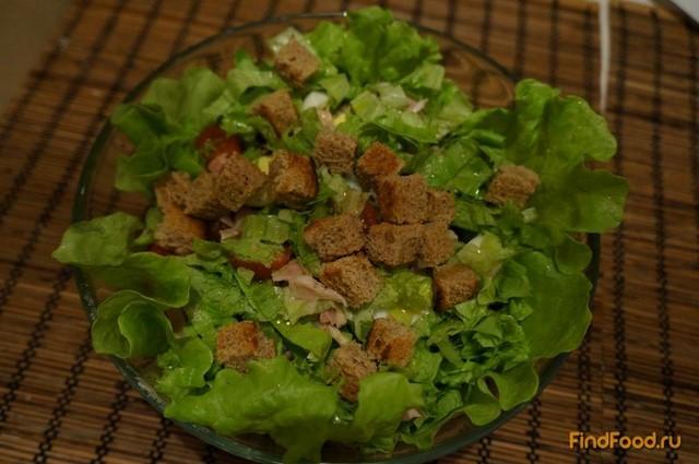Рецепт Салат с копченой курицей по-европейски рецепт с фото