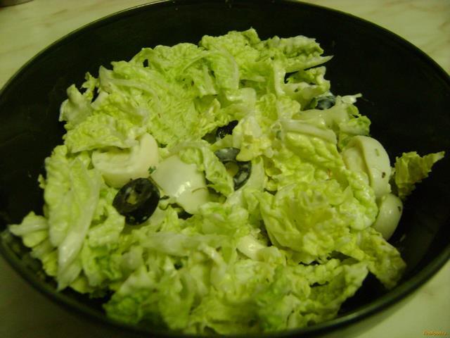 Рецепт Салат с пекинской капустой и яйцами рецепт с фото