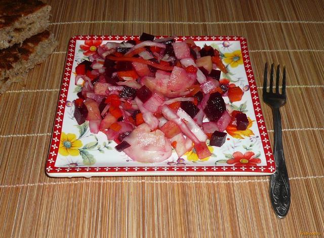 Рецепт Винегрет из запеченых овощей рецепт с фото