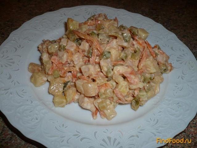 Рецепт Веганский салат с корейской морковкой рецепт с фото