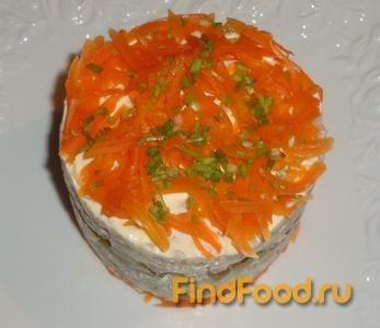 рецепт салат наполеон с рыбой рецепт с фото