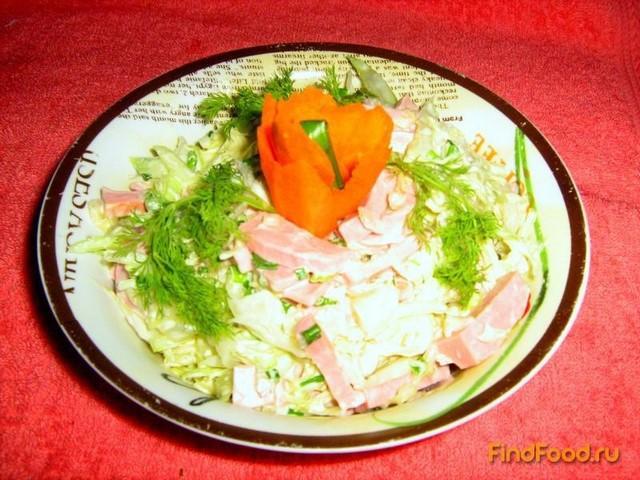 салат из свежей капусты рецепт с сметаной