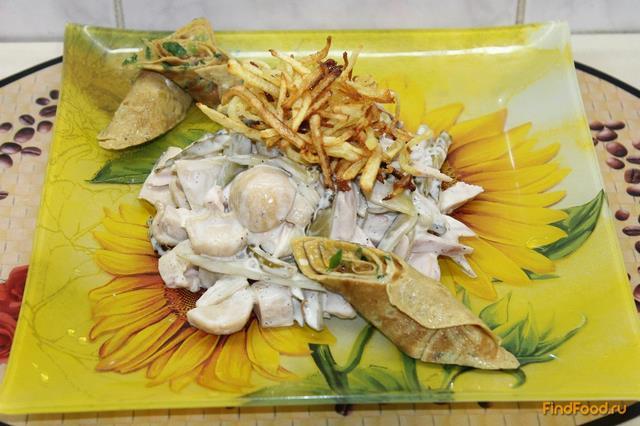 Рецепт Салат с японским омлетом и картошкой рецепт с фото