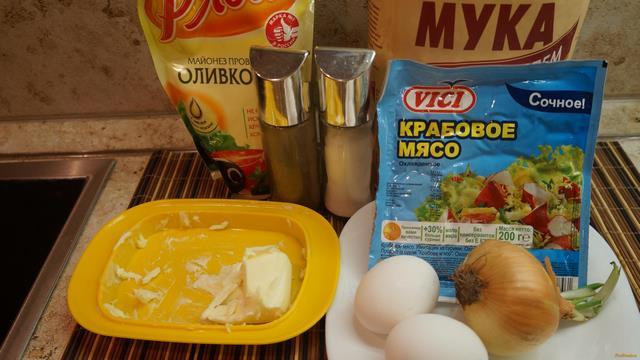 рецепт салата из крахмальных блинчиков