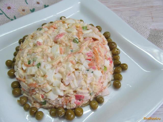 Рецепт Салат из крабовых палочек и моркови рецепт с фото