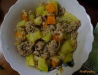 Рецепт Тушеный кабачок с мясом рецепт с фото