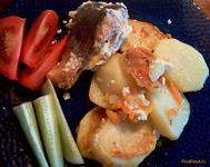 Рецепт Горбуша запеченная с картошкой рецепт с фото