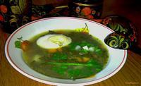 Рецепт Суп с щавелем и яйцом рецепт с фото