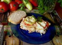 Рецепт Куриная грудка запеченная с помидором и болгарским перцем рецепт с фото