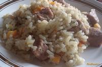 Рецепт Рассыпчатый рис со свининой рецепт с фото