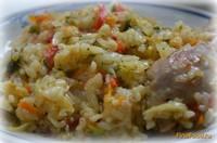 Рецепт Рис тушеный с капустой и курицей рецепт с фото