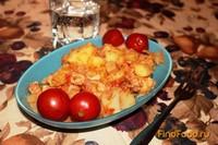 Рецепт Картофель тушеный с мясом и цветной капустой рецепт с фото