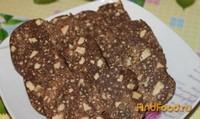 Шоколадная салями от грецкими орехами средство из фото